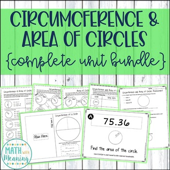 Circumference and Area of Circles Complete Unit Bundle - 7