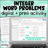Integer Word Problems DIGITAL Activity for Google Drive &