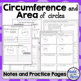 Circumference and Area of Circles - Interactive Notes, Practice and Quiz