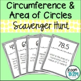 Circumference and Area of Circles Scavenger Hunt