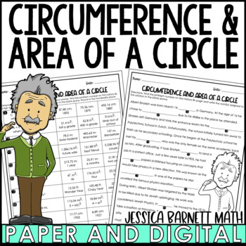 Circumference and Area of a Circle Mistory Lib Activity