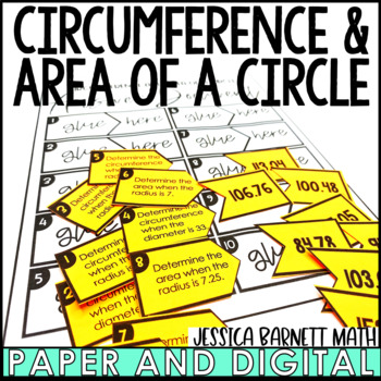 Circumference and Area of a Circle Matching Activity
