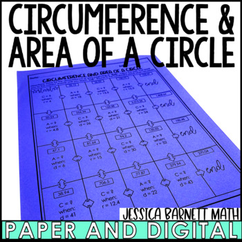 Circumference and Area of a Circle Maze Activity