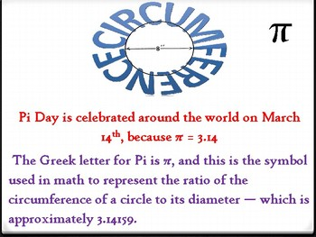 Circumference for Pi Day  5th-6th Grade Math