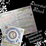 Circumference of Circles - Decorated Notes Brochure for Interactive Notebooks