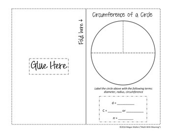 Circumference of Circles Foldable Notes Booklet - Aligned to CCSS 7.G.B.4