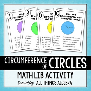 Circumference of Circles Math Lib