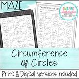 Circumference of Circles Worksheet - Maze Activity