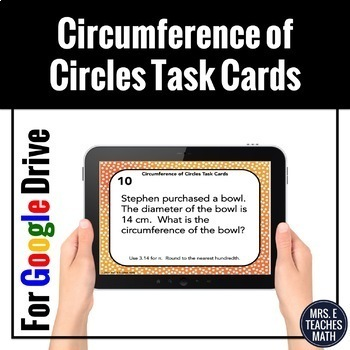 Circumference of Circles Task Cards Digital Activity