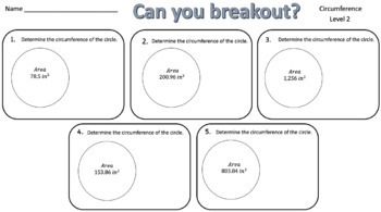 Circumference of Circles – Two Breakout Activities!