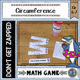 Circumference of Circles Don't Get ZAPPED Math Game Pi Day Middle School