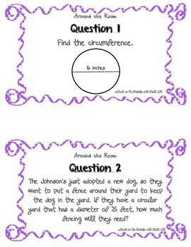 "Circumference of a Circle ""Around the Room"" Activity"