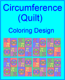 "CIRCLES: CIRCUMFERENCE - COLORING ACTIVITY ""QUILT"" DESIGN"
