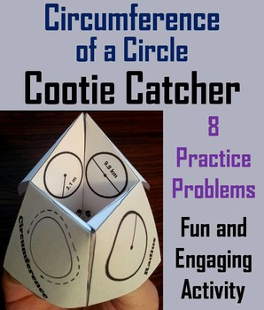 Circumference of a Circle Practice Activity (Scoot Unit Review Game)