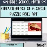 Circumference of a Circle Puzzle Pixel Art Google Sheets™ Pi Day