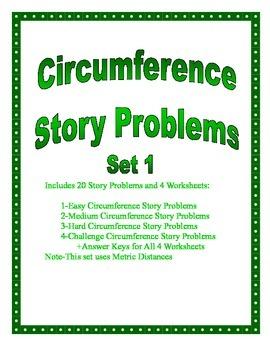 Circumference of a Circle Story Problems Set 1