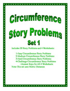 Circumference of a Circle Story Problems Set 1