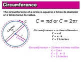 Circumference of a circle