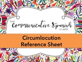 Circumlocution Spanish Reference Sheet