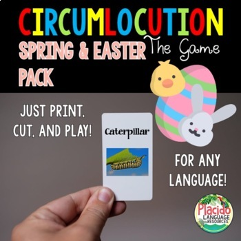 Circumlocution Game Spring / Easter edition for Spanish, French, German