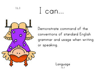 Circus 1st grade English Common core standards posters