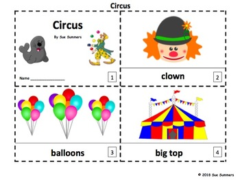 Circus 2 Emergent Reader Booklets