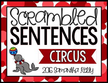 Circus Scrambled Sentence Station