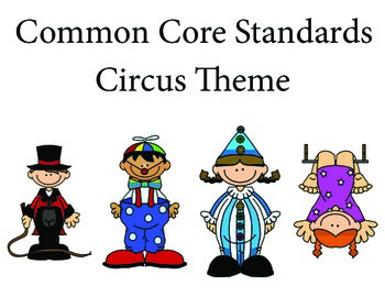 Circus 2nd grade English Common core standards posters