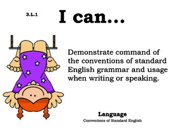 Circus 3rd grade English Common core standards posters