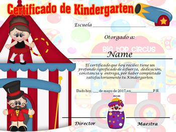Circus Achievement Award Complete Editable!!!! English & Spanish version
