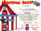 Circus Achievement Award Complete Editable!!!! English & S