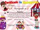 Circus Achievement Award Spanish & English version Editable!!!!