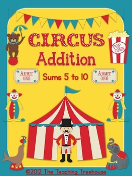 Circus Addition: Sums 5 to 10