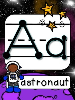 Space Alphabet Line