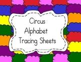 Circus Alphabet Tracing Sheets