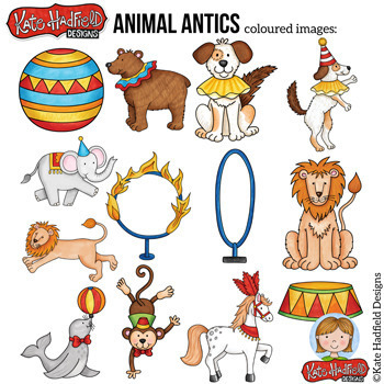 "Circus Animal Clip Art: ""Animal Antics"""