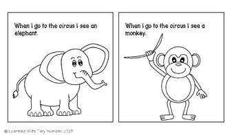 Circus Animal Emergent Reader Book