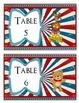 Circus Animal Themed Table Signs Option 2