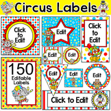 Circus Labels - Circus Animals Theme