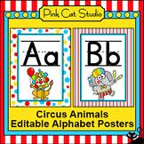 Circus Animals Theme Alphabet Posters