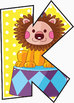"Circus Animals! Clip Art Alphabet, 91 PNGs, 3.5"" 300 DPI  Vector and PNG"