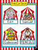 Circus Animals Name Tags & Labels - Carnival Theme