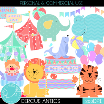 Circus Antics Clip Art Set