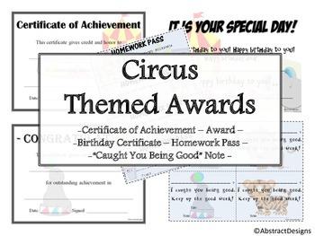 Circus Awards Set