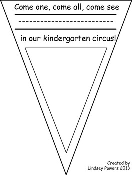 Circus Banner for the First Day of Kindergarten