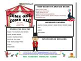 Circus Big Top Newsletter