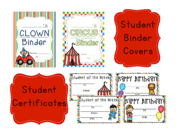 Circus Binder Covers {Editable}