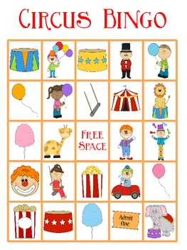 Circus Bingo FREEBIE