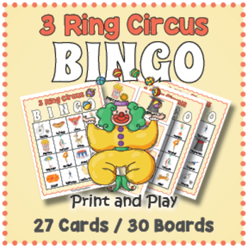 Circus Bingo Game - Circus Themed Activity