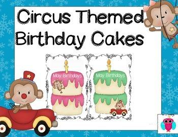 Circus Birthday Cakes
